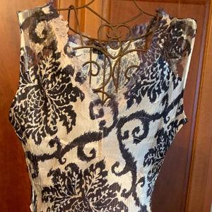 BEAUTIFUL Black & White Komarov Dress, Size Large
